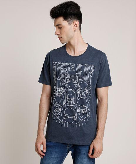 Camiseta-Masculina-Star-Wars-Manga-Curta-Gola-Careca-Cinza-Mescla-Escuro-9719813-Cinza_Mescla_Escuro_1