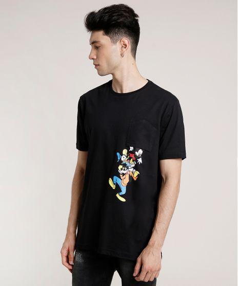 Camiseta-Masculina-Turma-do-Mickey-com-Bolso-Manga-Curta-Gola-Careca-Preta-9757271-Preto_1