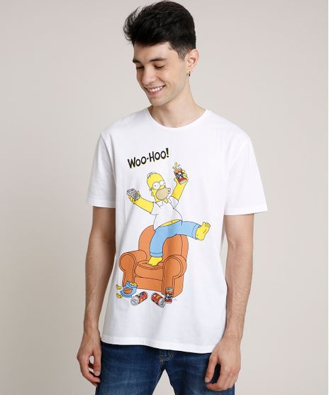Camiseta-Masculina-Homer-Simpson-Manga-Curta-Gola-Careca-Off-White-9726997-Off_White_1