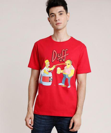 Camiseta-Masculina-Duff-Os-Simpsons-Manga-Curta-Gola-Careca-Vermelha-9727007-Vermelho_1