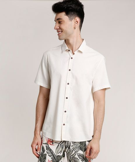 Camisa-Masculina-Tradicional-com-Linho-Manga-Curta-Off-White-9734601-Off_White_1