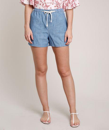 Short-Jeans-Feminino-com-Bolsos-e-Cadarco-Azul-Claro-9753911-Azul_Claro_1