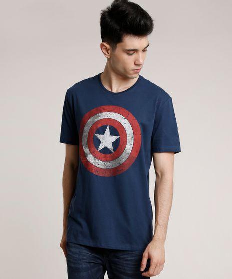Camiseta-Masculina-Capitao-America-Manga-Curta-Gola-Careca-Azul-Marinho-9727000-Azul_Marinho_1