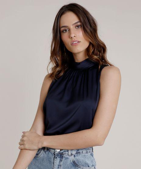 Regata-Feminina-Mindset-Acetinada-Gola-Alta-Azul-Marinho-9674894-Azul_Marinho_1