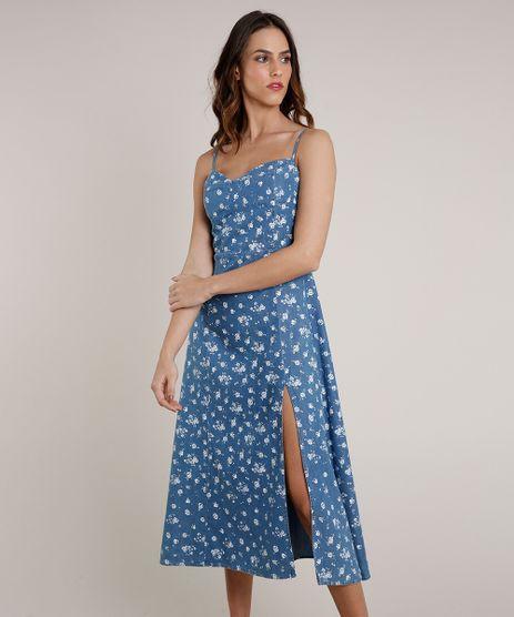 Vestido-Jeans-Feminino-Mindset-Midi-Estampado-Floral-Alca-Fina-Azul-Medio-9830531-Azul_Medio_1