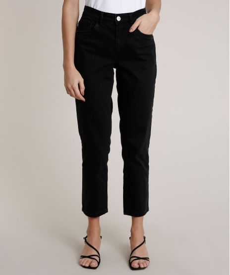 Calca-Jeans-Feminina-Mindset-Reta-Preta-9825707-Preto_1