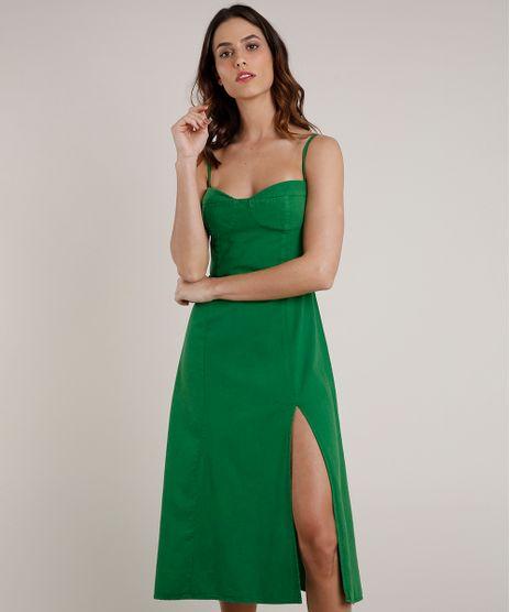 Vestido-Feminino-Mindset-Midi-com-Fenda-Alca-Fina-Verde-9830538-Verde_1