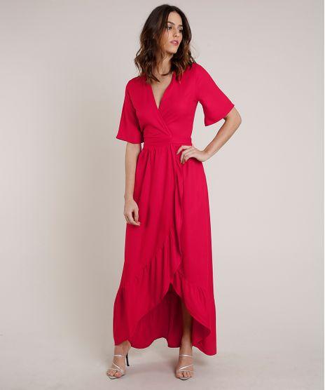 Vestido-Feminino-Mindset-Longo-Envelope-Manga-Curta-Vermelho-9830539-Vermelho_1