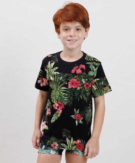 Camiseta-Infantil-Blueman-Estampada-Tropical-Manga-Curta-Gola-Careca-Preta-9719640-Preto_1