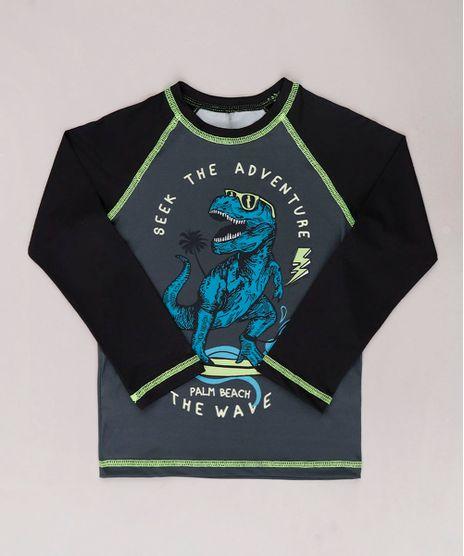 Camiseta-de-Praia-Infantil-Raglan-Dinossauro-Surfista-Manga-Longa-com-Protecao-UV50--Chumbo-9744457-Chumbo_1
