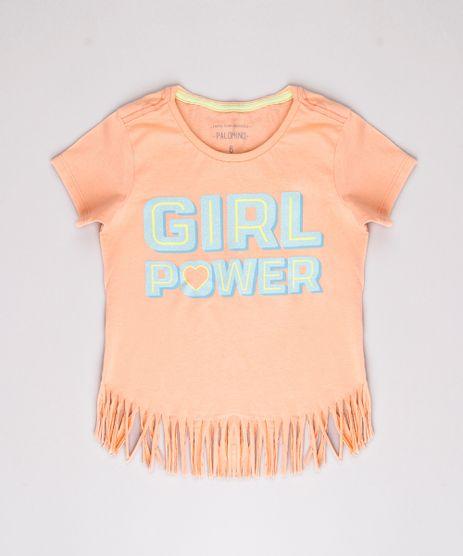 Blusa-Infantil--Girl-Power--com-Franjas-Manga-Curta-Laranja-9778179-Laranja_1