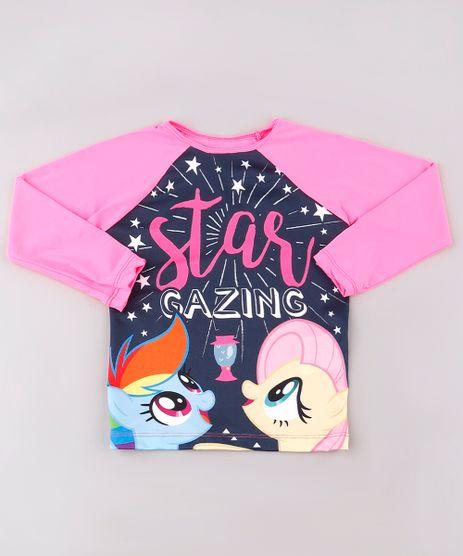 Blusa-de-Praia-Infantil-Raglan-My-Little-Pony-Manga-Longa-com-Protecao-UV50--Rosa-Neon-9740049-Rosa_Neon_1