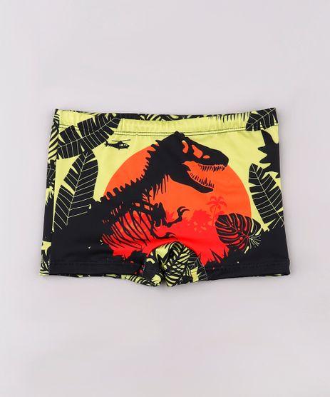 Sunga-Infantil-Boxer-Jurassic-World-Estampada-com-Protecao-UV50--Amarela-9743110-Amarelo_1