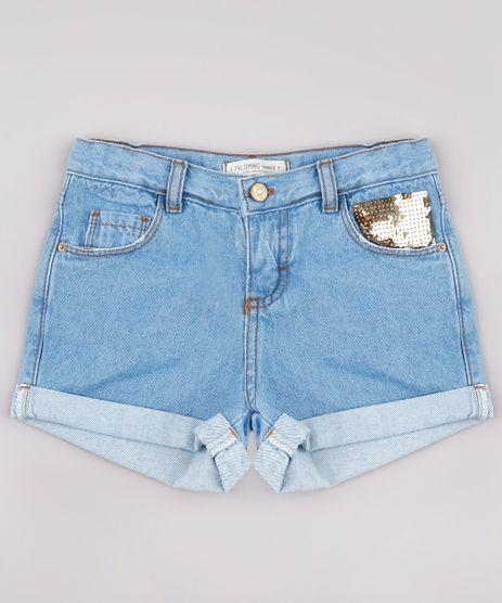 Short-Jeans-Infantil-com-Paetes-Barra-Dobrada-Azul-Claro-9748603-Azul_Claro_1