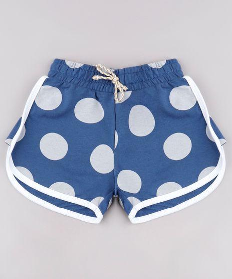 Short-Infantil-Running-Estampado-de-Poa-em-Moletom-Azul-9744602-Azul_1