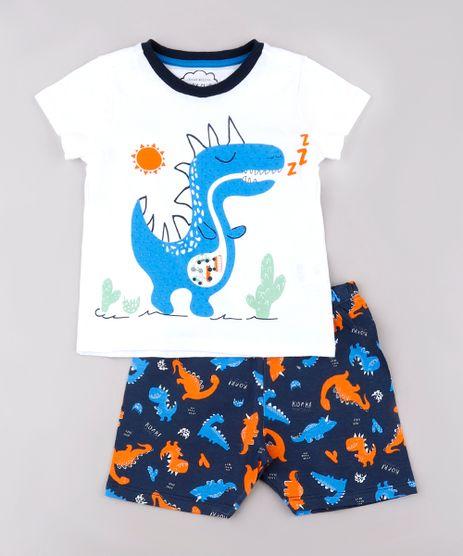 Pijama-Infantil-Dinossauro-Manga-Curta-Off-White-9762292-Off_White_1