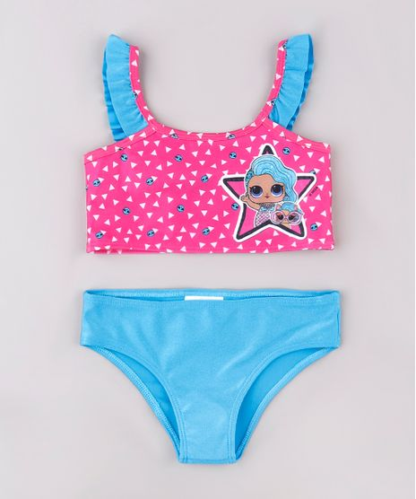 Biquini-Infantil-LOL-Surprise-Estampado-com-Babado-Protecao-UV50--Rosa-Escuro-9740767-Rosa_Escuro_1