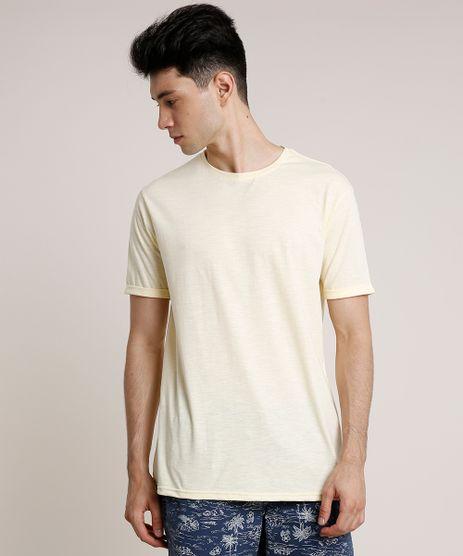 Camiseta-Masculina-Basica-Manga-Curta-Gola-Careca-Amarelo-Claro-9752729-Amarelo_Claro_1