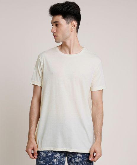 Camiseta-Masculina-Basica-com-Linho-Manga-Curta-Gola-Careca-Bege-Claro-9752731-Bege_Claro_1