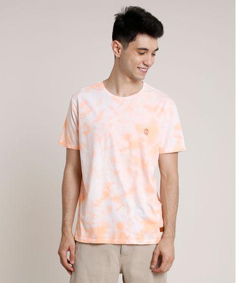 Camiseta-Masculina-Estampada-Tie-Dye-Manga-Curta-Gola-Careca-Laranja-9743664-Laranja_1