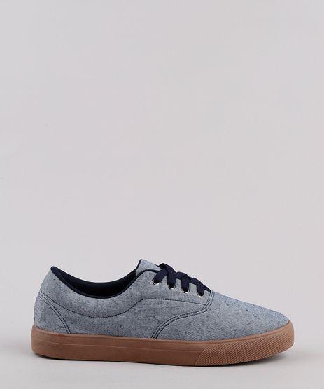 Tenis-Jeans-Masculino-Oneself-com-Pespontos-Azul-Medio-9811994-Azul_Medio_1