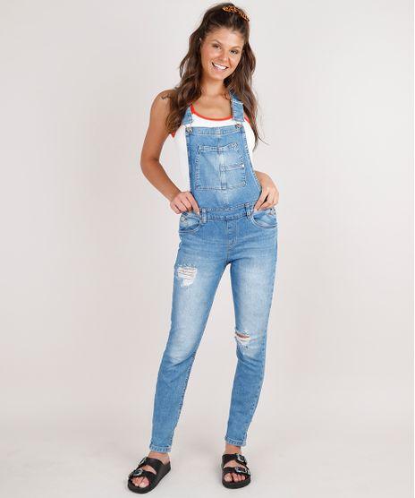 Macacao-Jeans-Feminino-Destroyed-com-Bolsos-Azul-Medio-9750169-Azul_Medio_1