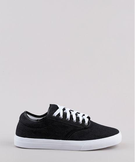 Tenis-Jeans-Masculino-Oneself-com-Recortes--Preto-9811998-Preto_1