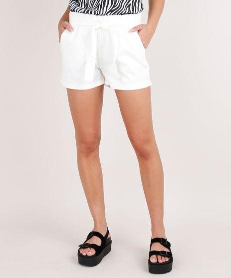 Short-de-Sarja-Feminino-Clochard-com-Bolsos-Off-White-9693549-Off_White_1