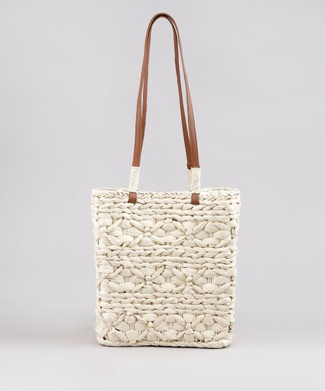 Bolsa-Feminina-Shoulder-em-Palha-Texturizada-Bege-Claro-9602444-Bege_Claro_1