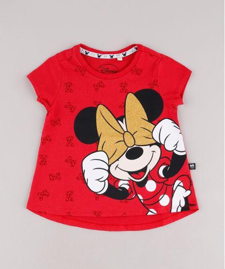 Blusa-Infantil-Minnie-com-Glitter-Manga-Curta-Vermelha-9742253-Vermelho_1