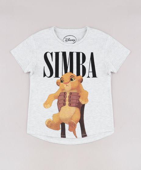Blusa-Infantil-Simba-O-Rei-Leao-Manga-Curta-Cinza-Mescla-Claro-9741330-Cinza_Mescla_Claro_1