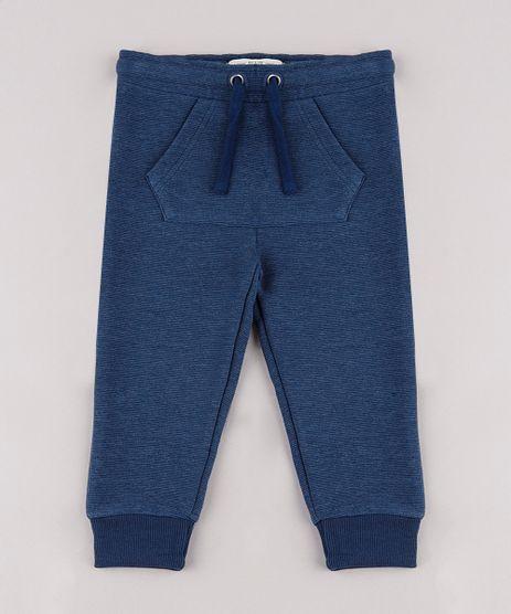 Calca-Infantil-em-Moletom-Texturizada-com-Bolso--Azul-Marinho-9659242-Azul_Marinho_1