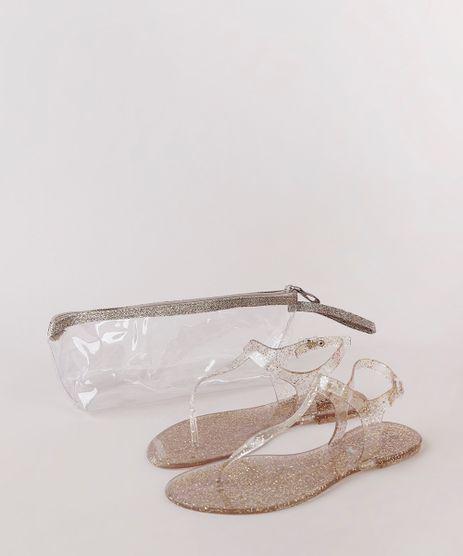 Kit-de-Rasteira-Feminina-Oneself-Transparente-com-Glitter---Necessaire-Dourada-9827567-Dourado_1