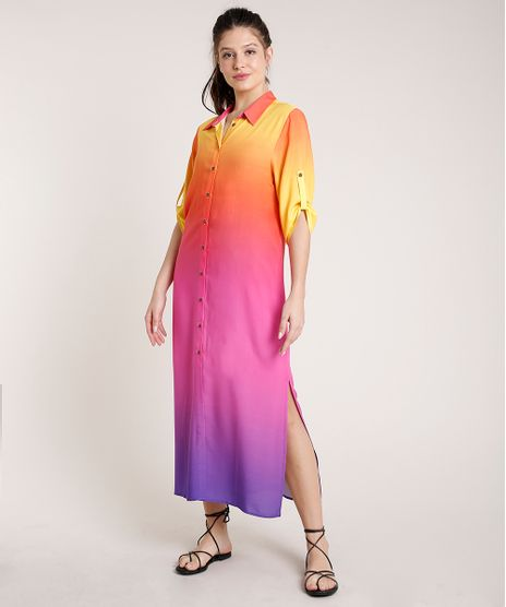 Vestido-Chemise-Feminino-Triya-Longo-Estampado-Degrade-Sunset-Manga-3-4-9679220-Roxo_1