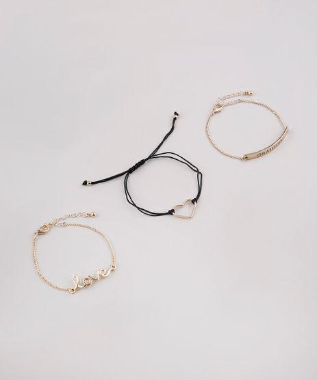 Kit-de-3-Pulseiras-Femininas--Love--e--Gratitude--Dourado-9650235-Dourado_1