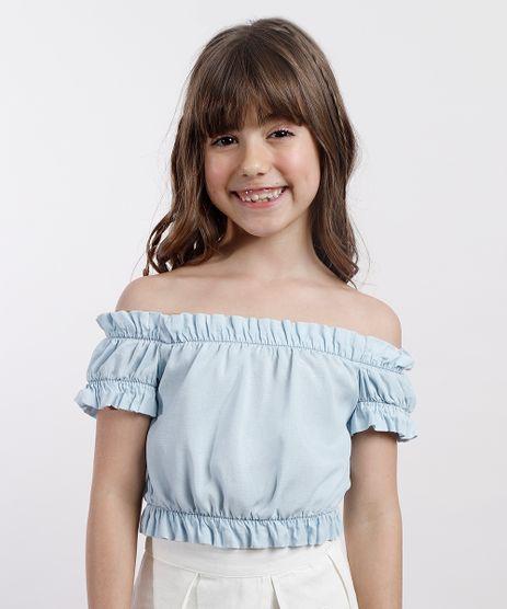 Blusa-Jeans-Infantil-Agua-de-Coco-Tal-Mae-Tal-Filha-Cropped-Ombro-a-Ombro-Manga-Curta-Azul-Claro-9799552-Azul_Claro_1