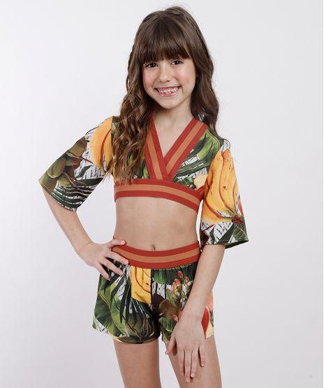 Conjunto-Infantil-Agua-de-Coco-Tal-Mae-Tal-Filha-de-Blusa-Cesto-de-Frutas-Manga-Curta---Short-Verde-Escuro-9675675-Verde_Escuro_1