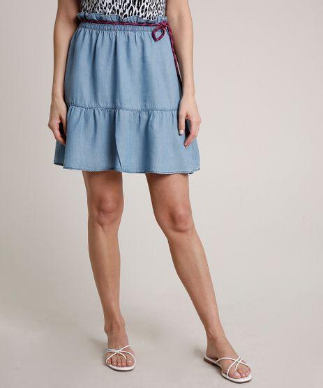 Saia-Jeans-Feminina-Triya-Curta-com-Cinto-Cadarco-Azul-Claro-9810530-Azul_Claro_1