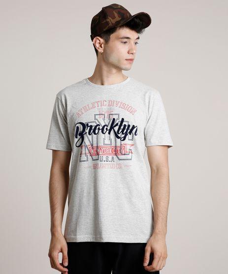 Camiseta-Masculina--Brooklyn--Manga-Curta-Gola-Careca-Cinza-Mescla-Claro-9754408-Cinza_Mescla_Claro_1