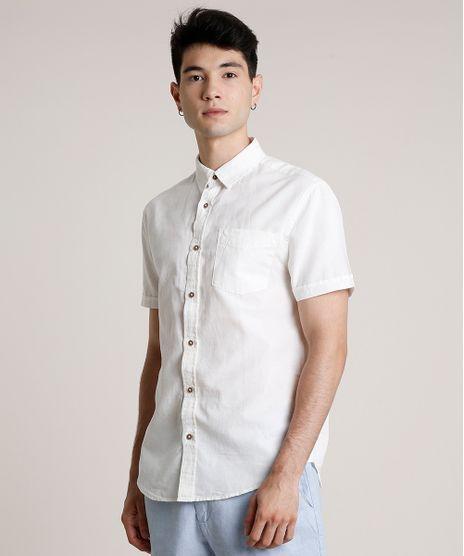 Camisa-Masculina-com-Linho-e-Bolso-Manga-Curta-Off-White-9660421-Off_White_1