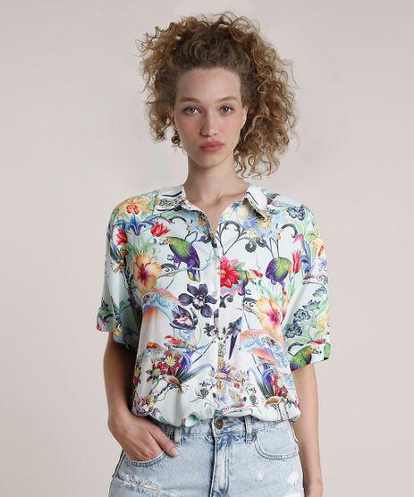 Camisa-Feminina-Blueman-Tradicional-Estampada-Melodia-Manga-Curta-Verde-Agua-9679062-Verde_Agua_1