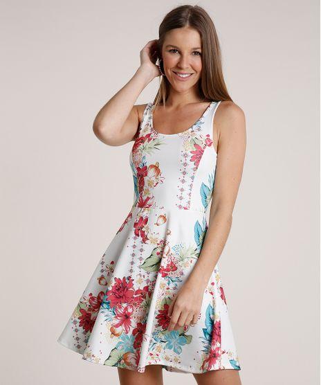 Vestido-Feminino-Curto-Evase-Estampado-Floral-Alca-Media-Branco-9778089-Branco_1