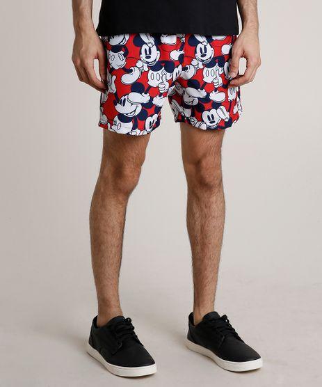 Short-Masculino-Mickey-Estampado-com-Bolsos-Vermelho-9831662-Vermelho_1