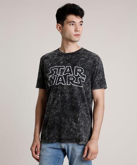 Camiseta-Masculina-Star-Wars-Marmorizada-Manga-Curta-Gola-Careca-Preta-9737482-Preto_1