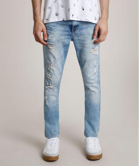 Calca-Jeans-Masculina-Carrot-Destroyed-Azul-Claro-9769647-Azul_Claro_1