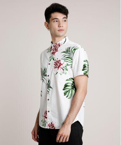 Camisa-Masculina-Estampada-Floral-com-Bolso-Manga-Curta-Off-White-9660416-Off_White_1