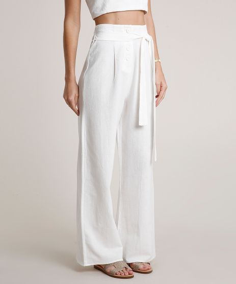 Calca-Feminina-Pantalona-com-Botoes-e-Faixa-para-Amarrar-Off-White-9681406-Off_White_1