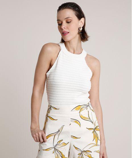 Regata-Feminina-Halter-Neck-Texturizada-em-Trico-Off-White-9703763-Off_White_1