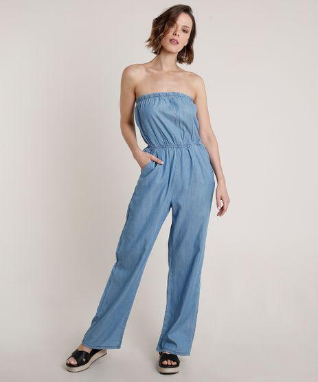 Macacao-Jeans-Feminino-Tomara-que-Caia-com-Bolsos-Azul-Claro-9753896-Azul_Claro_1