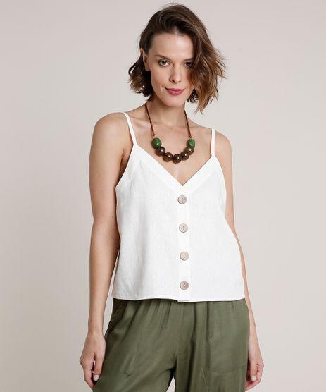 Regata-Feminina-com-Linho-e-Botoes-Alca-Fina-Decote-V-Off-White-9680495-Off_White_1